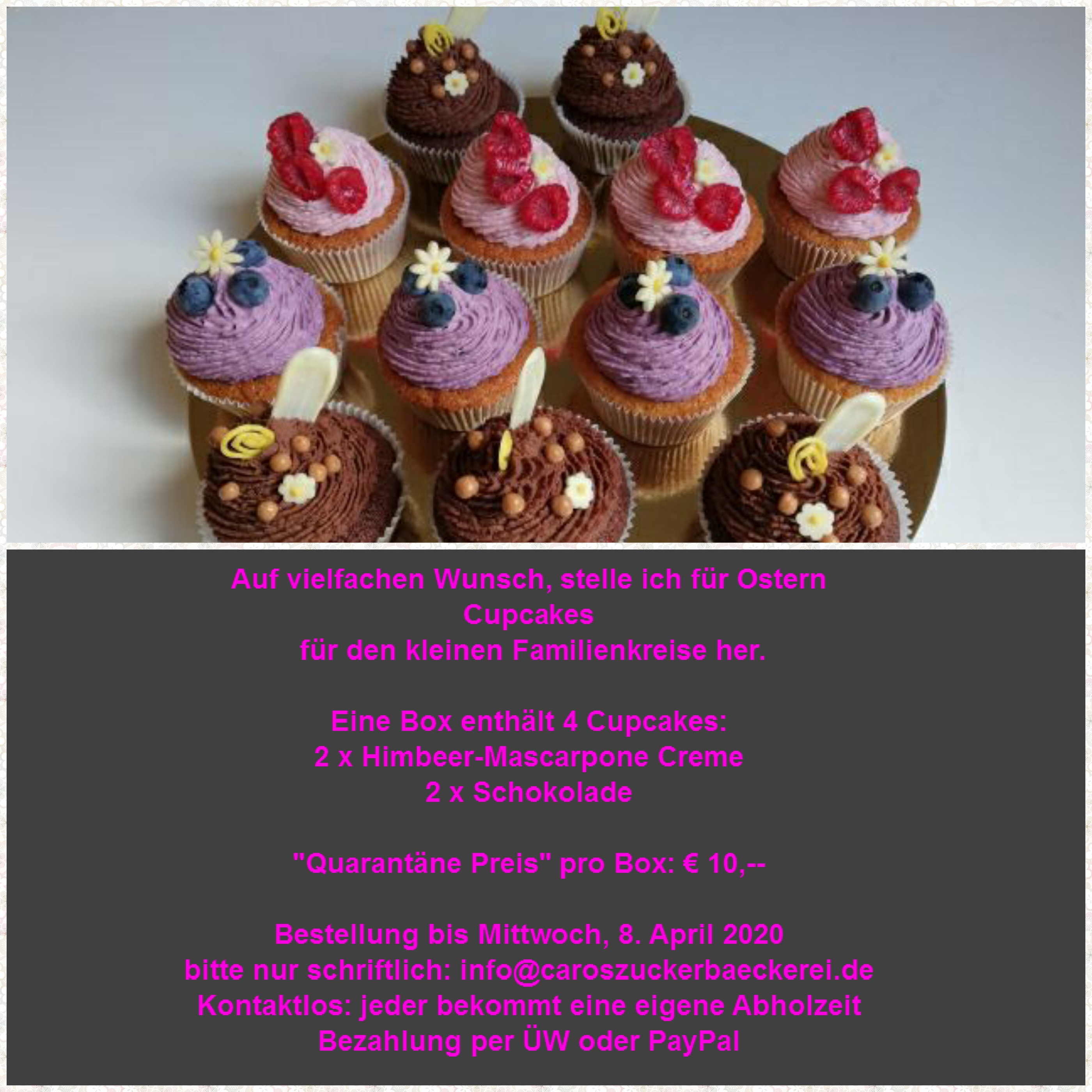 Cupcakes_Aktion Ostern 2020_Text